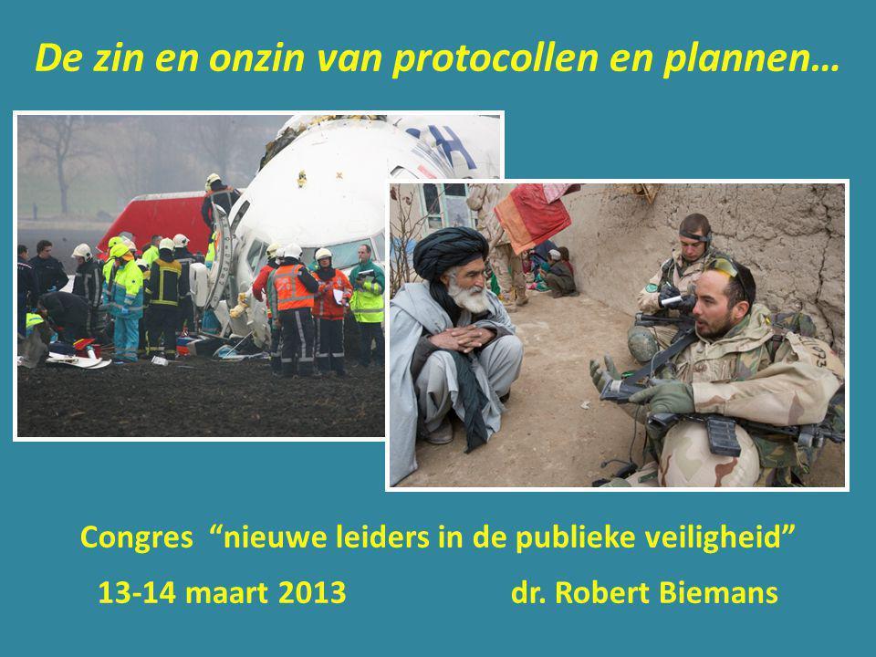 De zin en onzin van protocollen en plannen…