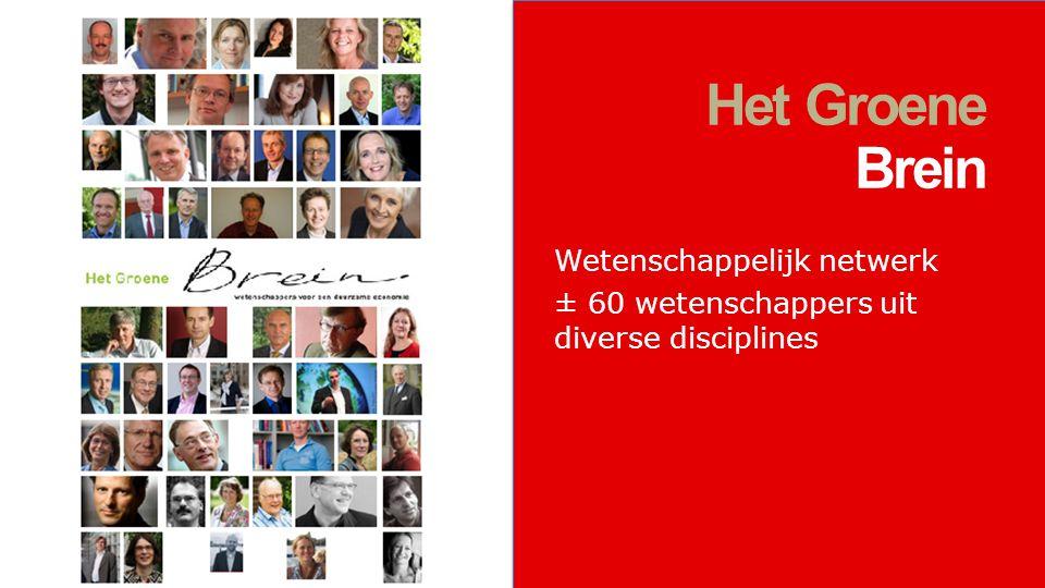 Wetenschappelijk netwerk ± 60 wetenschappers uit diverse disciplines