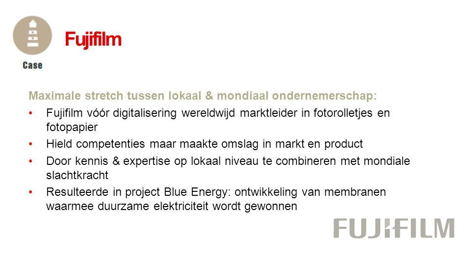 Fujifilm Maximale stretch tussen lokaal & mondiaal ondernemerschap:
