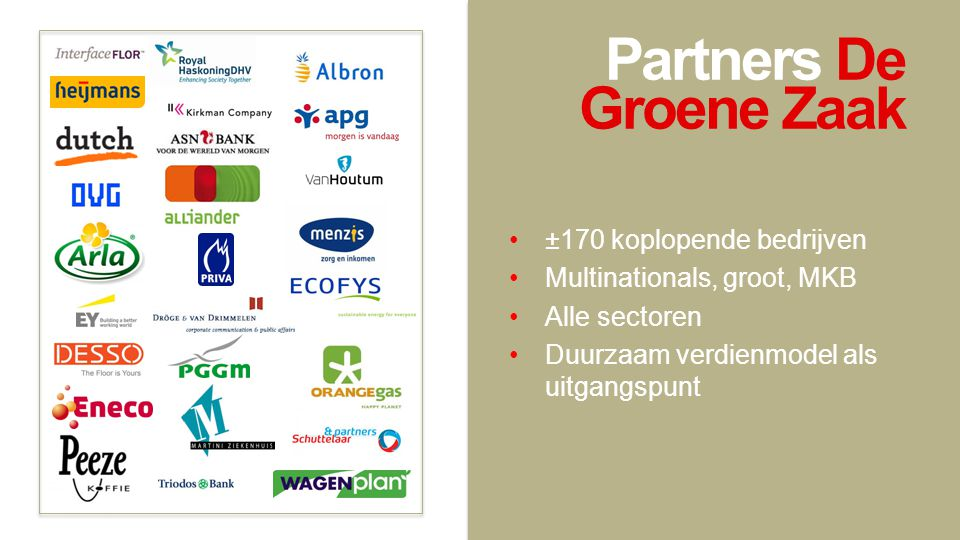Partners De Groene Zaak