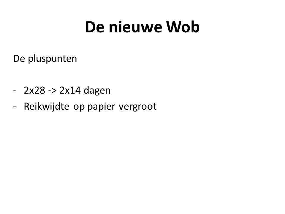 De nieuwe Wob De pluspunten 2x28 -> 2x14 dagen