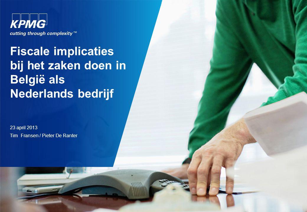 Agenda Vaste inrichting in België. Wanneer vaste inrichting. Vennootschapsbelasting. Btw.