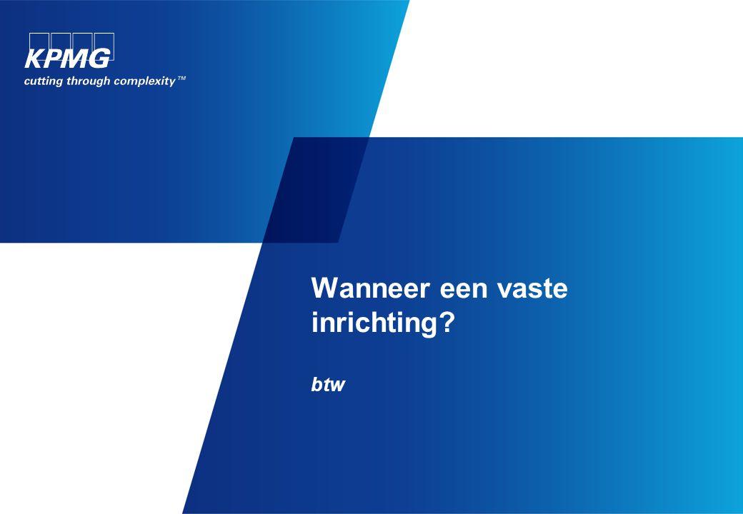 Vaste inrichting in België: Btw