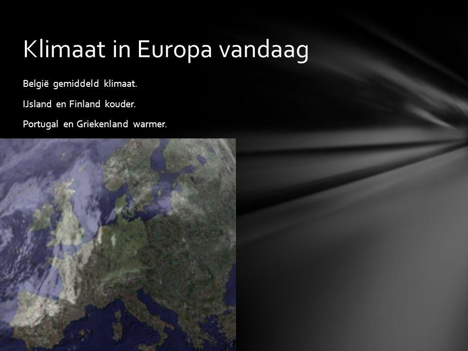 Klimaat in Europa vandaag