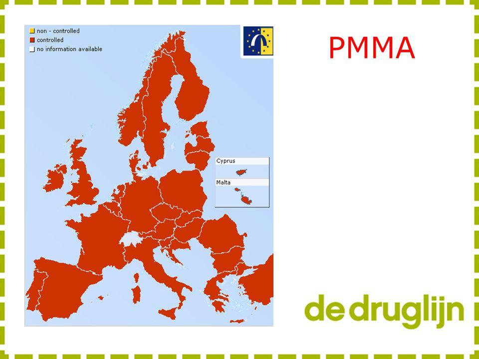 PMMA PMMA is illegaal in alle landen van Europa, sinds 2002, ook weer in de nasleep van de PMA crisis.
