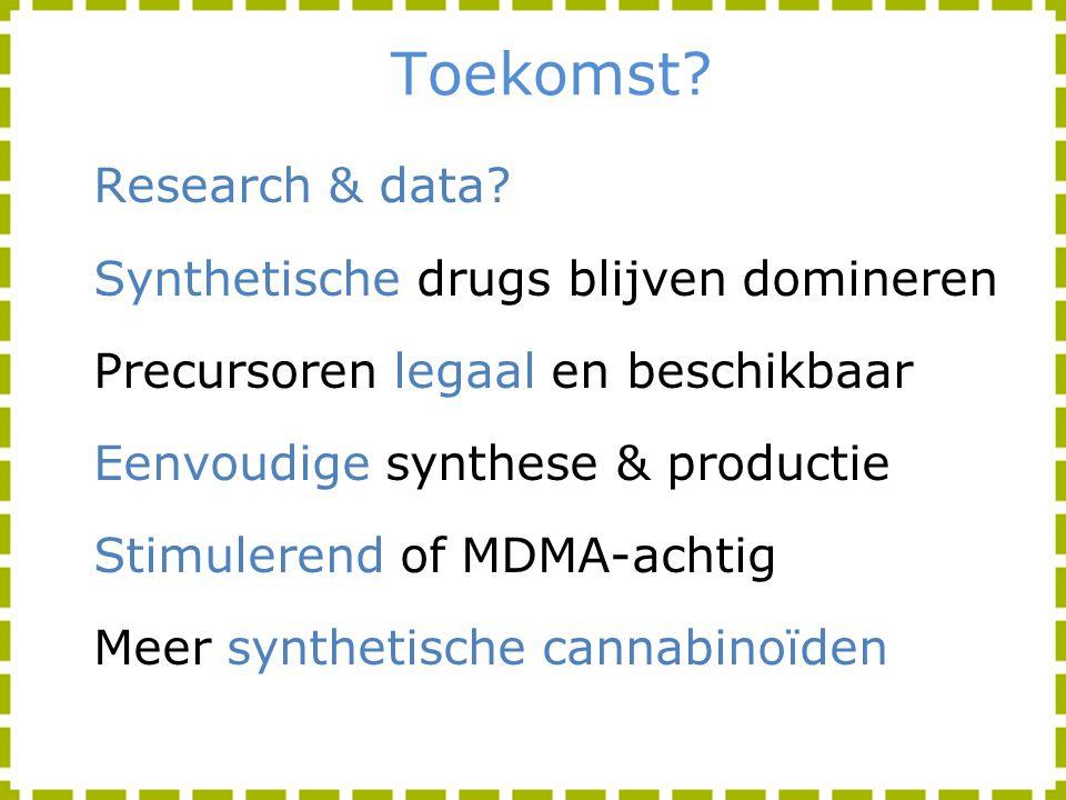 Toekomst Research & data Synthetische drugs blijven domineren