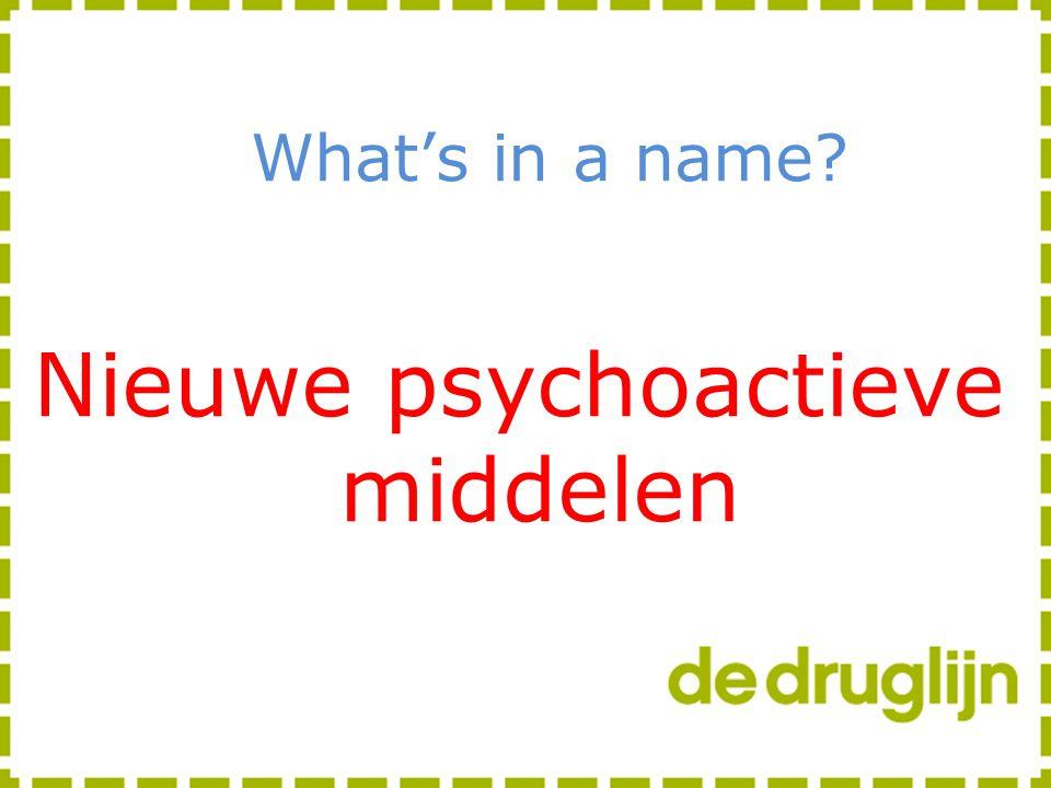 Nieuwe psychoactieve middelen