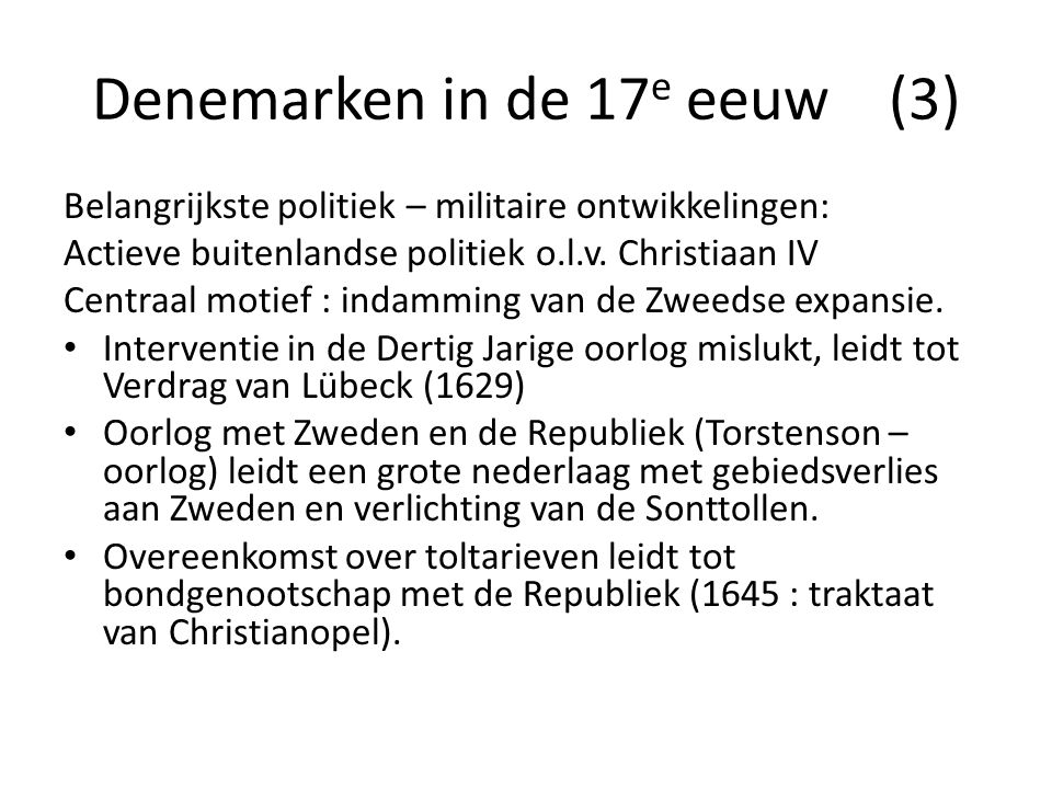 Denemarken in de 17e eeuw (3)