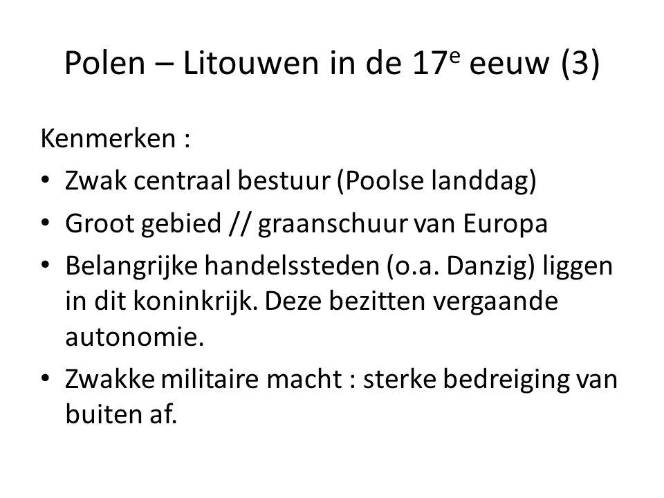 Polen – Litouwen in de 17e eeuw (3)