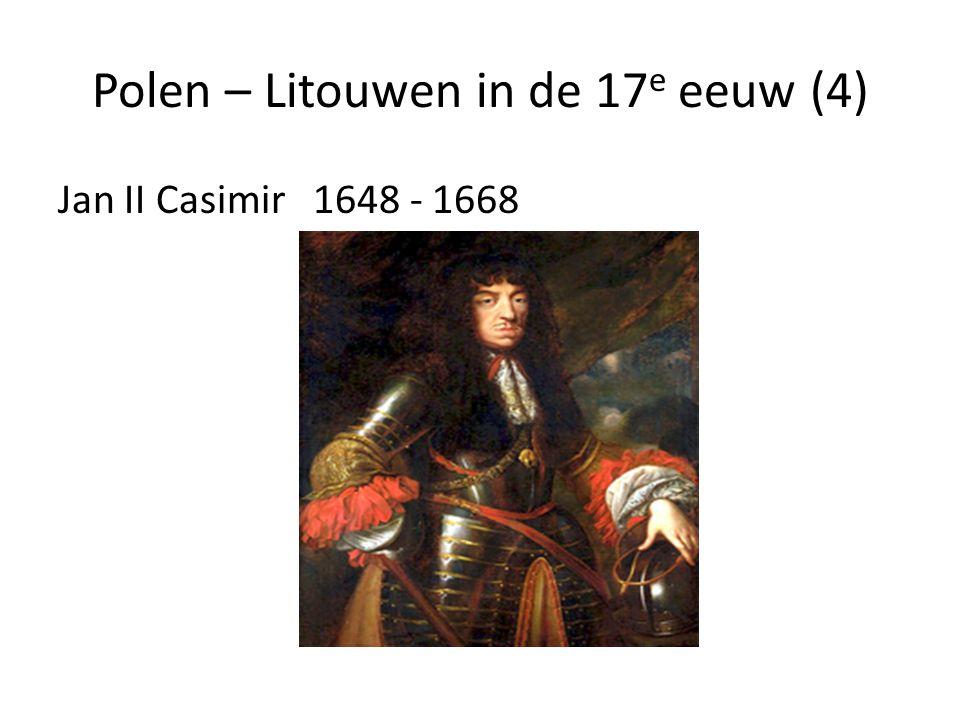 Polen – Litouwen in de 17e eeuw (4)