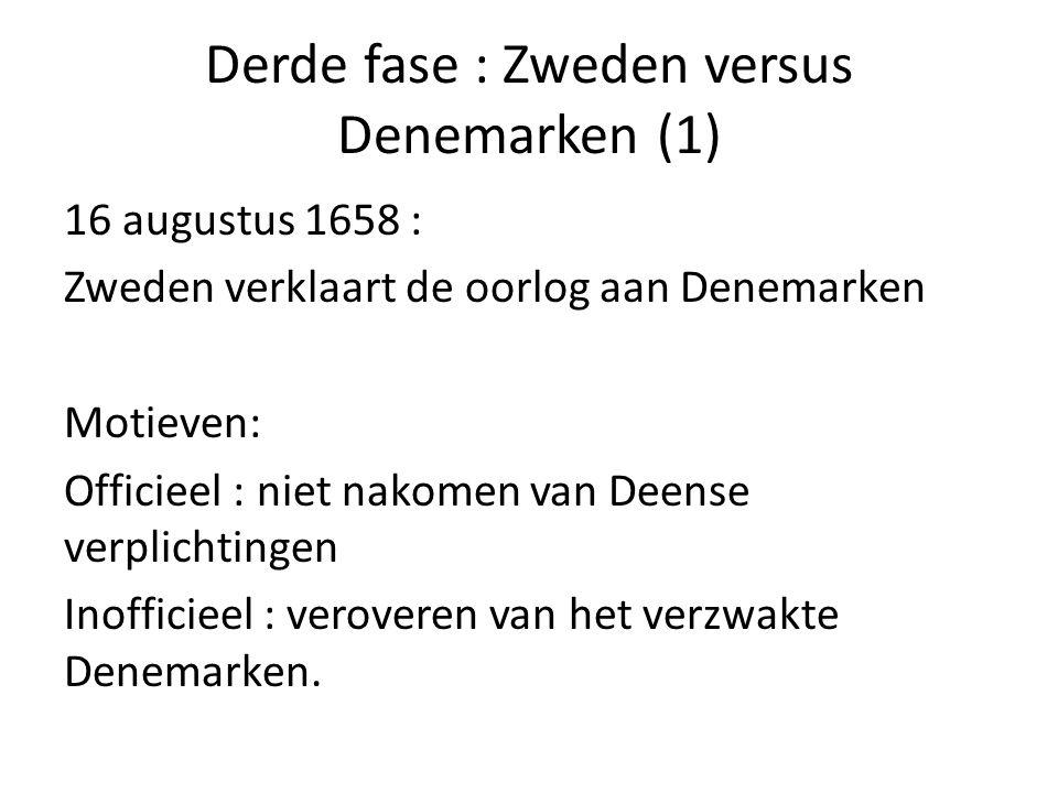 Derde fase : Zweden versus Denemarken (1)