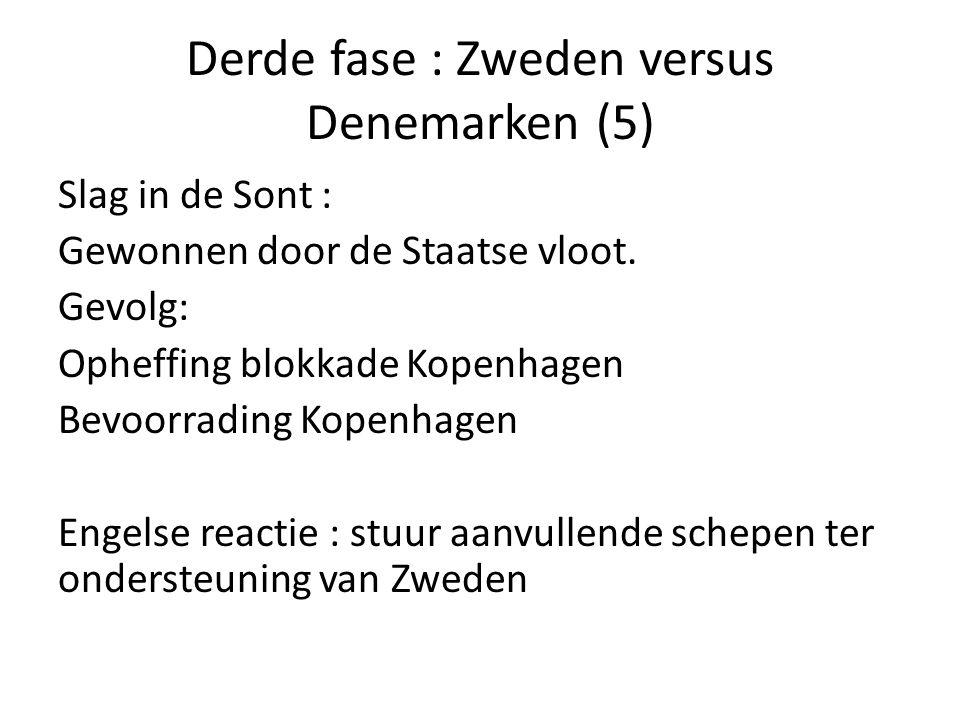 Derde fase : Zweden versus Denemarken (5)