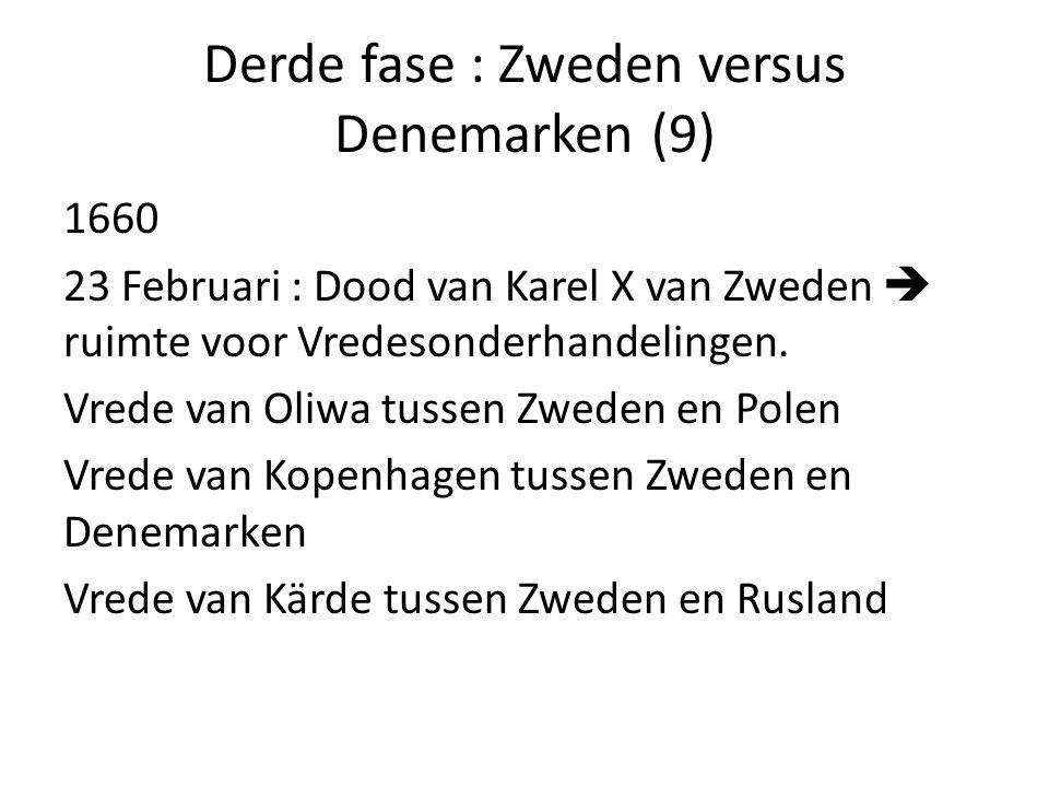 Derde fase : Zweden versus Denemarken (9)