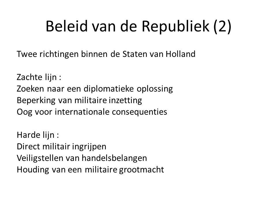 Beleid van de Republiek (2)