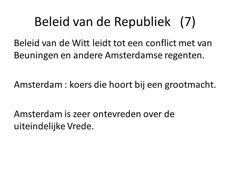 Beleid van de Republiek (7)