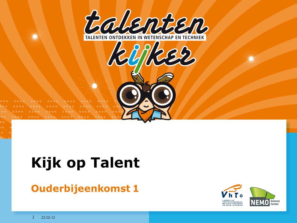 Kijk op Talent Ouderbijeenkomst 1 22-02-12