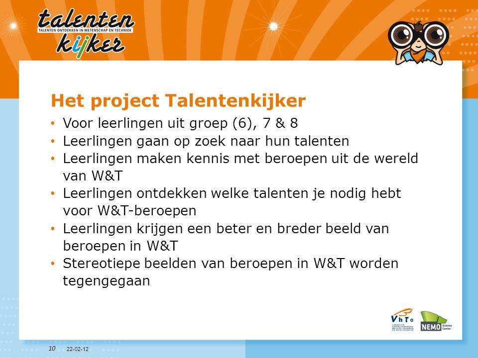Het project Talentenkijker