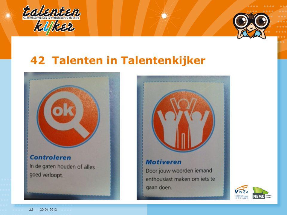 42 Talenten in Talentenkijker