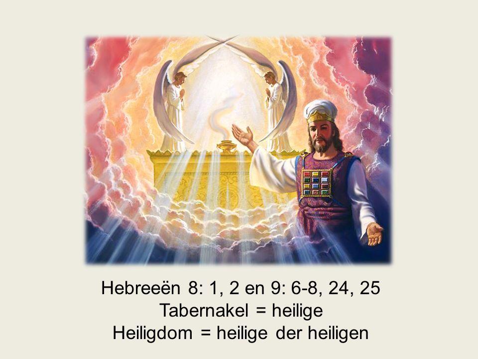 Heiligdom = heilige der heiligen