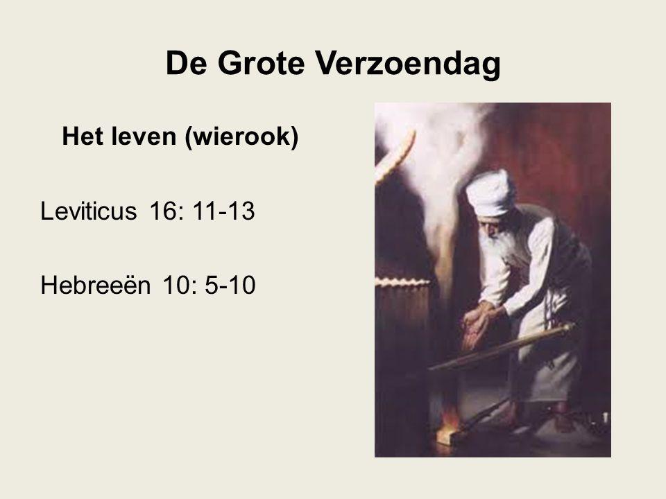 Het leven (wierook) Leviticus 16: 11-13 Hebreeën 10: 5-10