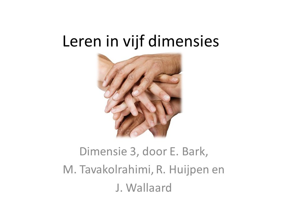 Leren in vijf dimensies