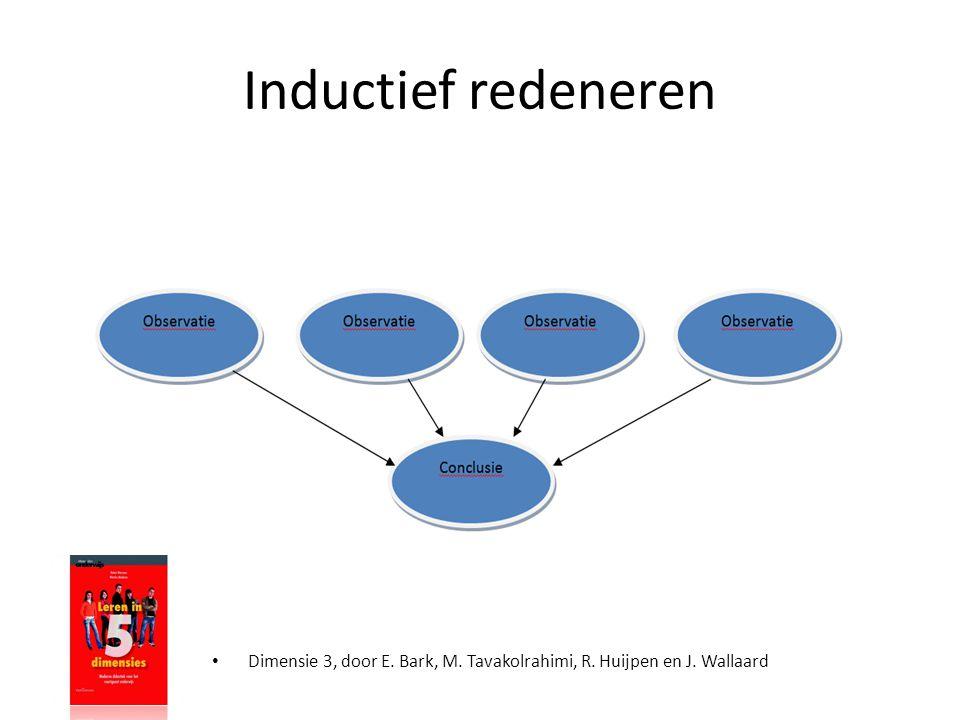 Inductief redeneren Dimensie 3, door E. Bark, M. Tavakolrahimi, R. Huijpen en J. Wallaard