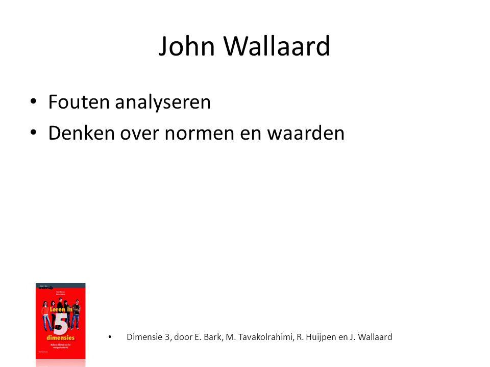 John Wallaard Fouten analyseren Denken over normen en waarden