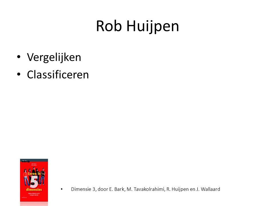 Rob Huijpen Vergelijken Classificeren
