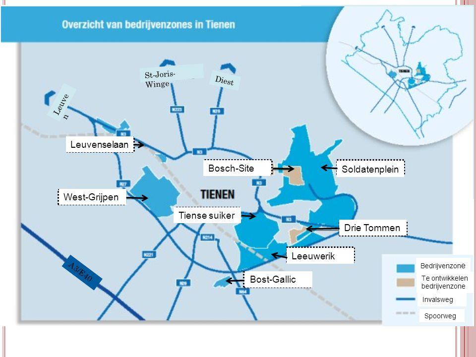 Leuvenselaan Bosch-Site Soldatenplein West-Grijpen Tiense suiker