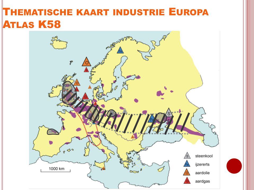 Thematische kaart industrie Europa Atlas K58