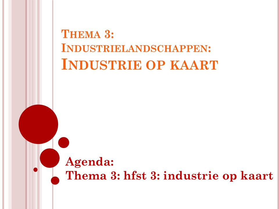 Thema 3: Industrielandschappen: Industrie op kaart