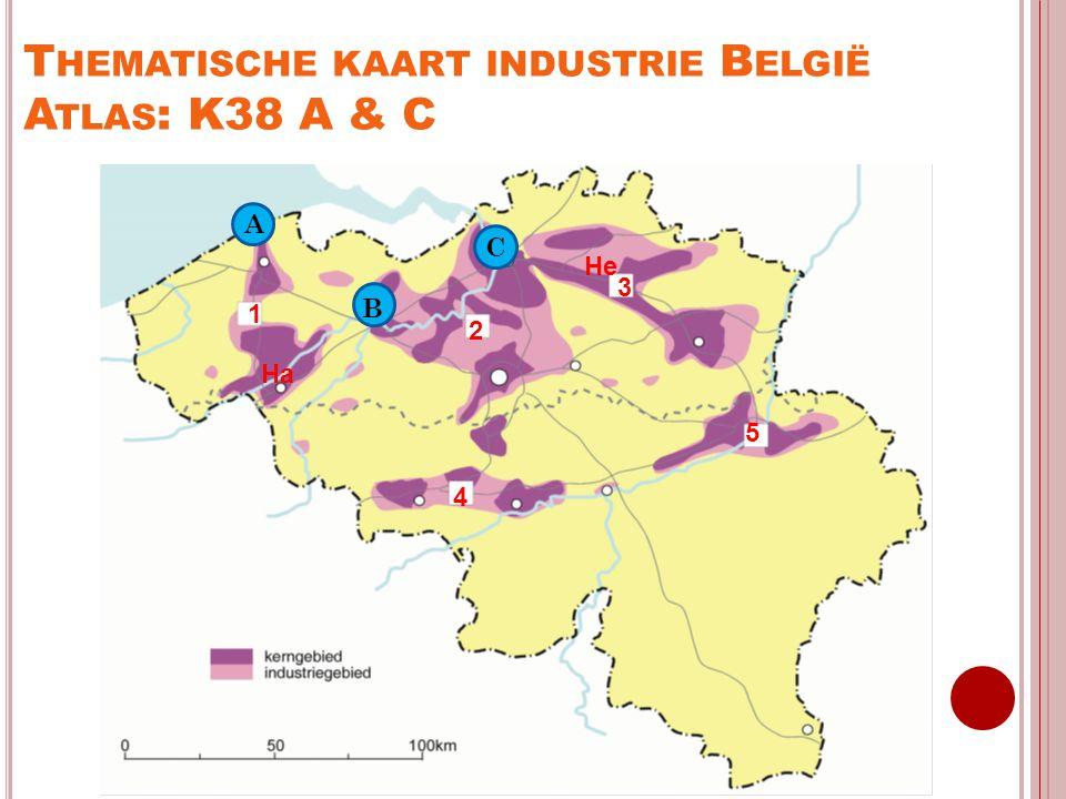 Thematische kaart industrie België Atlas: K38 A & C