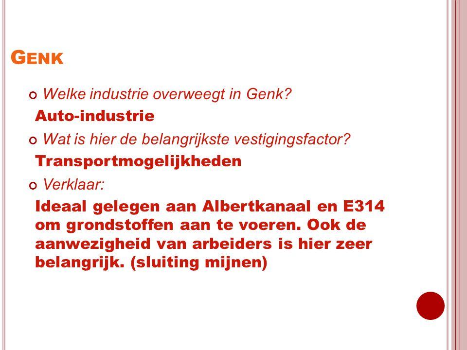 Genk Welke industrie overweegt in Genk Auto-industrie
