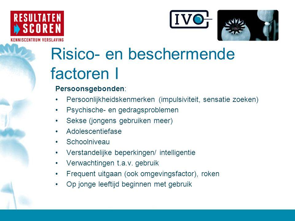 Risico- en beschermende factoren I