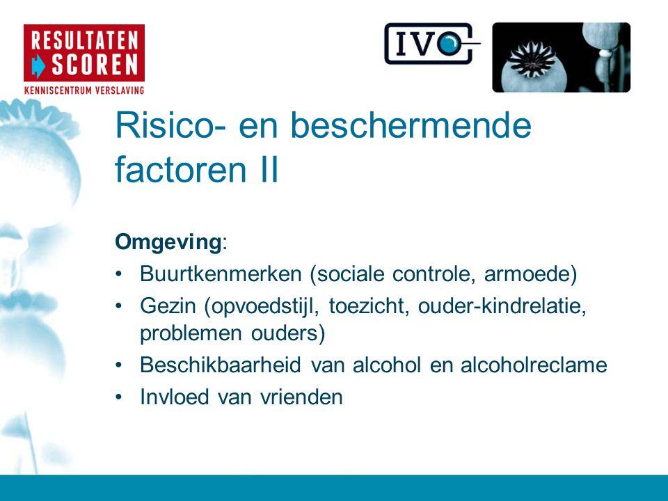 Risico- en beschermende factoren II