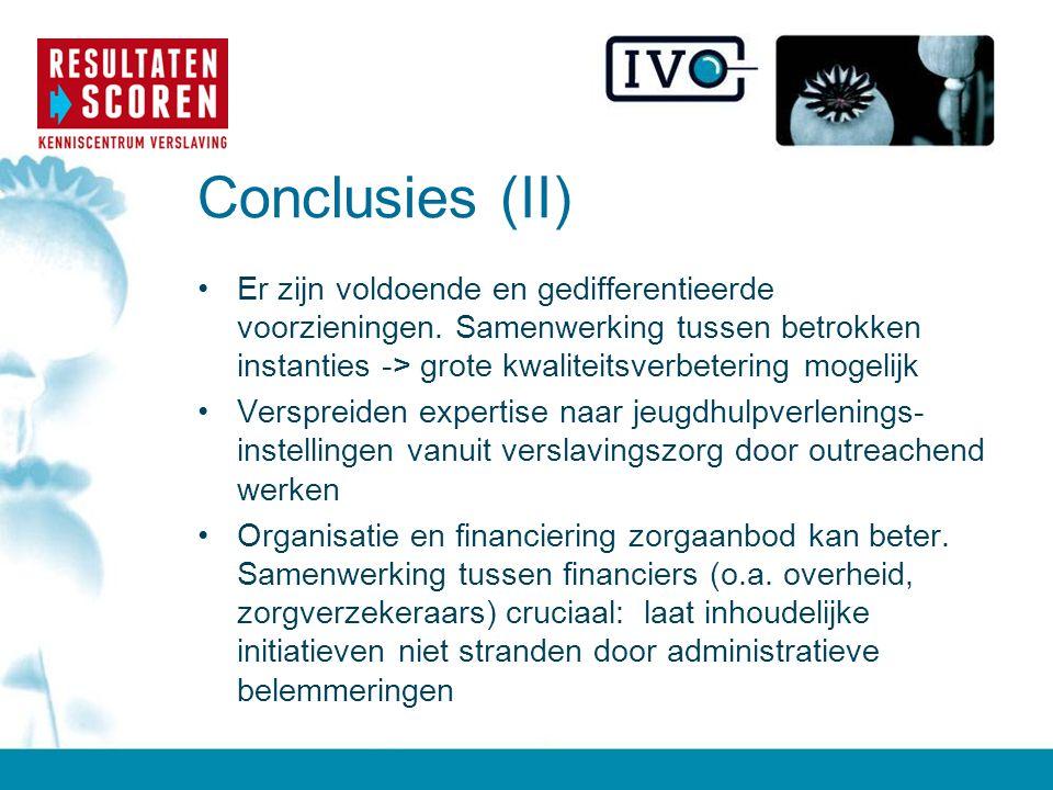 Conclusies (II)