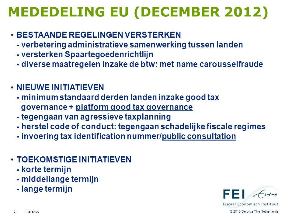 EU: AANBEVELINGEN MAATREGELEN TER VOORKOMING VAN DUBBELE NON- BELASTING: GEEN VOORKOMING VAN DUBBELE BELASTING INDIEN ANDERE LAND NIET HEFT.