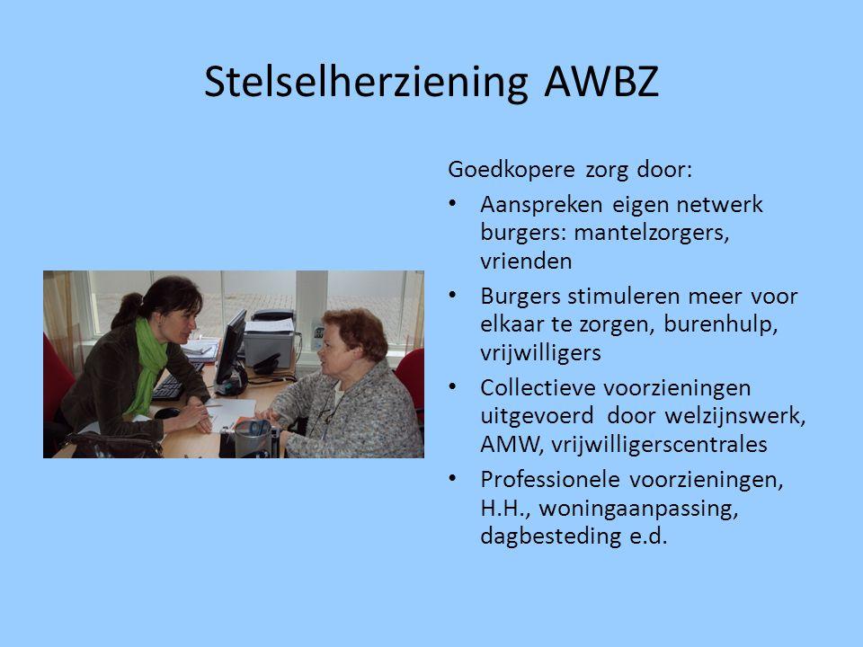 Stelselherziening AWBZ