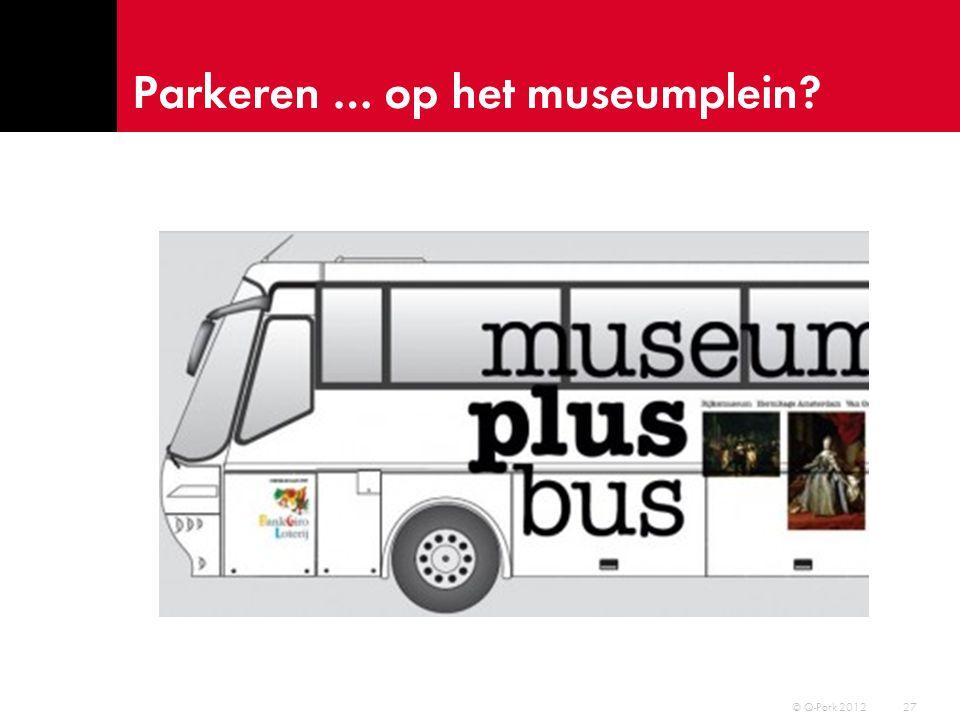 Parkeren … op het museumplein