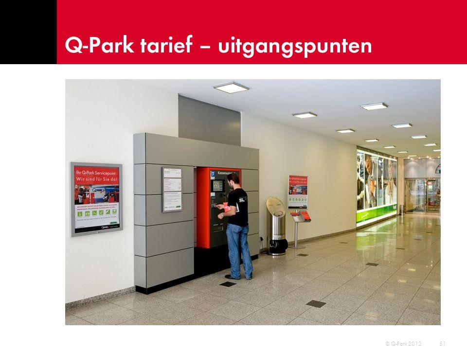 Q-Park tarief – uitgangspunten