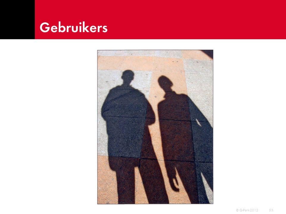 Gebruikers © Q-Park 2012