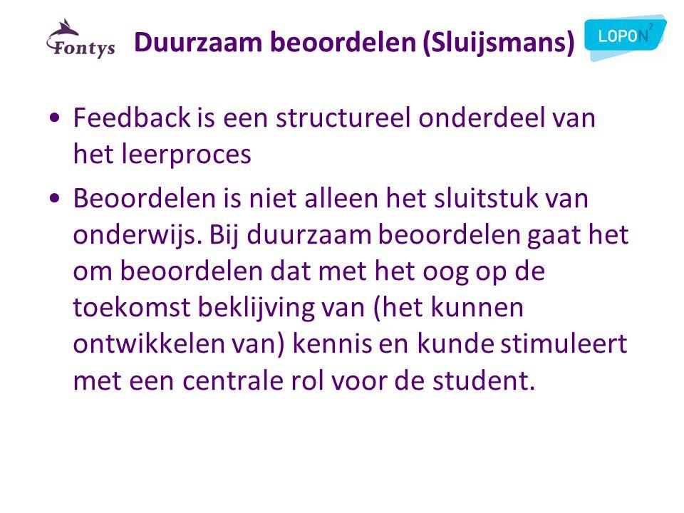 Duurzaam beoordelen (Sluijsmans)