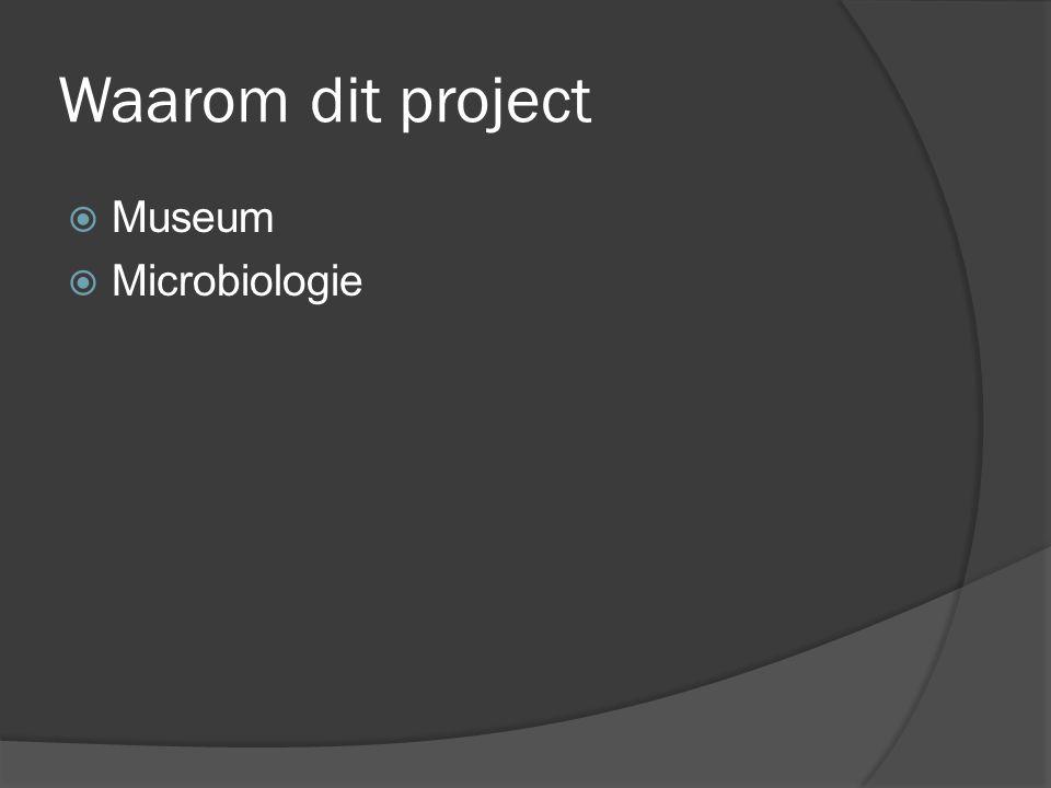 Waarom dit project Museum Microbiologie