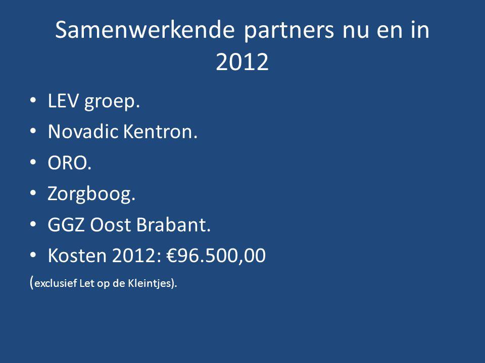 Samenwerkende partners nu en in 2012