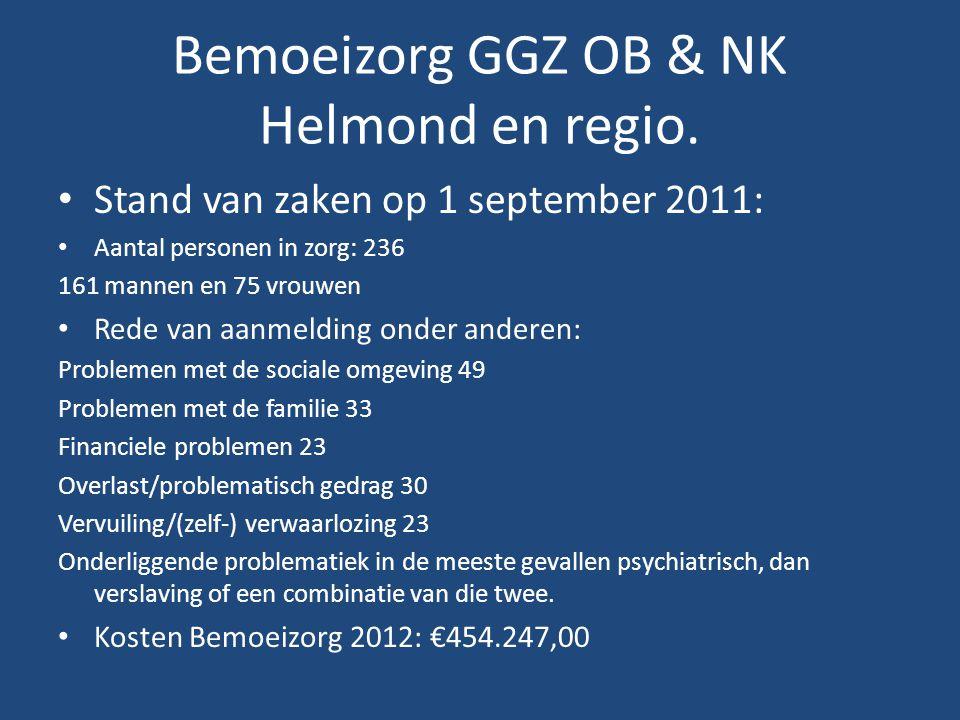 Bemoeizorg GGZ OB & NK Helmond en regio.