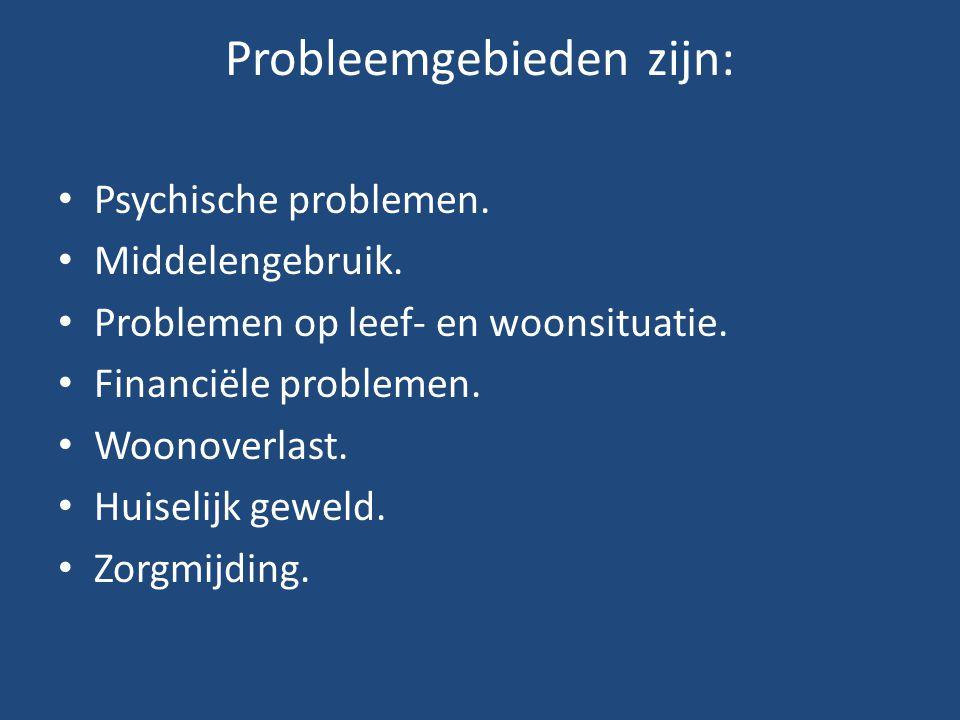 Probleemgebieden zijn: