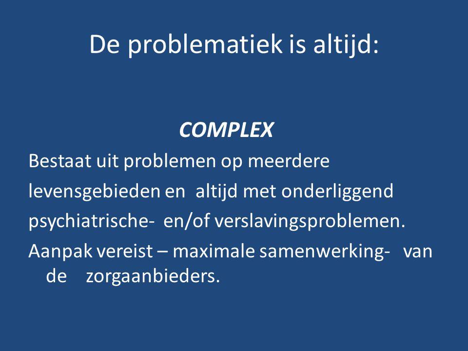 De problematiek is altijd: