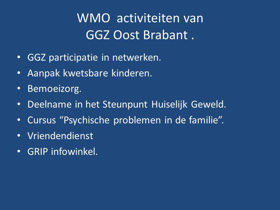 WMO activiteiten van GGZ Oost Brabant .