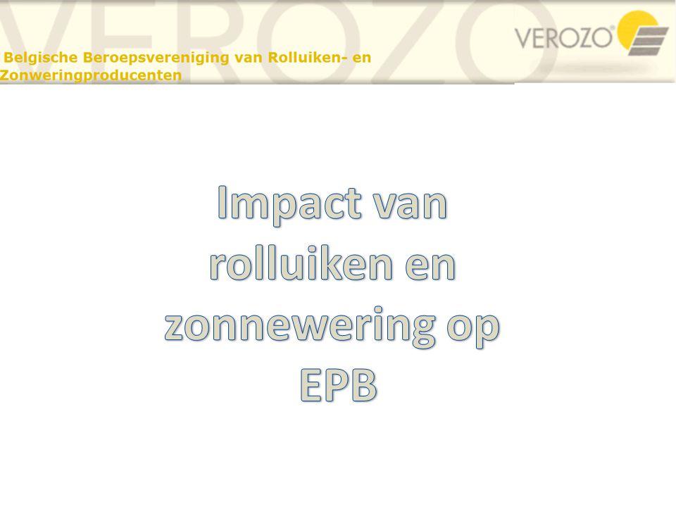 Impact van rolluiken en zonnewering op EPB