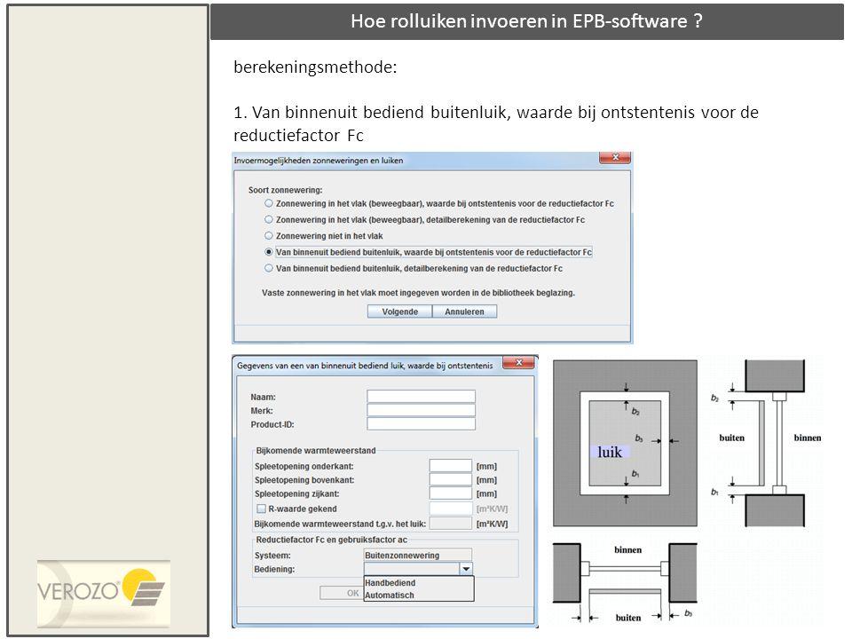 Hoe rolluiken invoeren in EPB-software